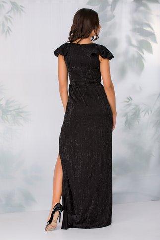Rochie Moze neagra lunga cu crepeu