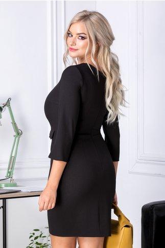 Rochie Moze neagra office cu funda