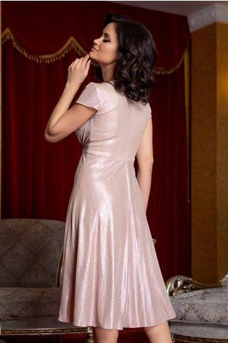 Rochie Moze roz prafuit cu reflexii