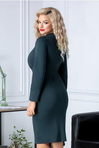 Rochie Moze smart casual verde