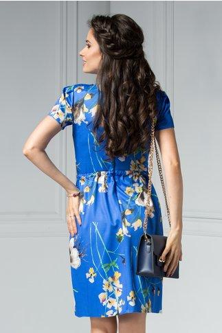Rochie Moze Stacie albastra de zi cu print floral