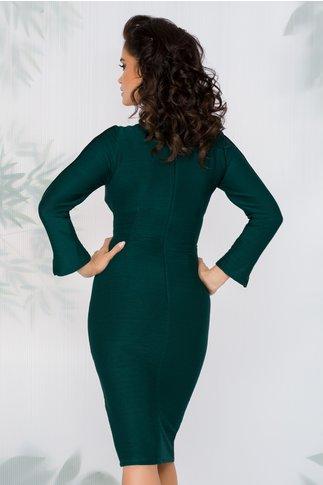 Rochie Moze verde cu aspect reiat