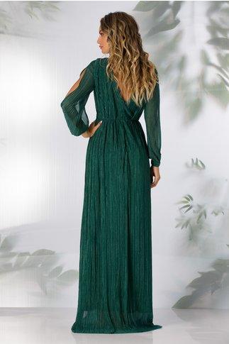 Rochie Moze verde pin lunga cu glitter stralucitor