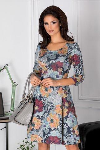 Rochie Myra cu imprimeu floral colorat