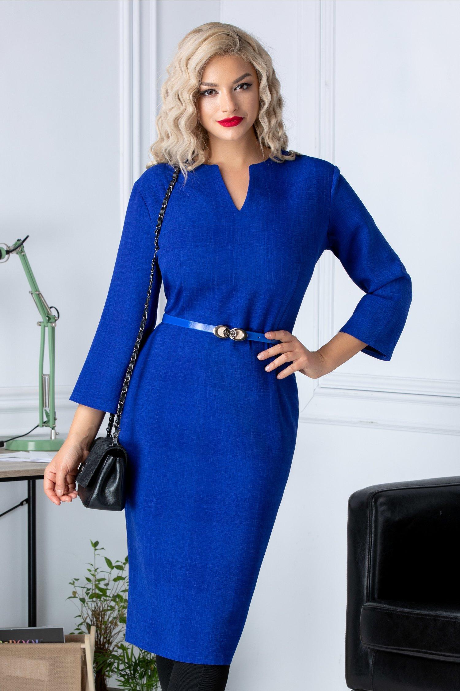 Rochie Myre albastra conica office