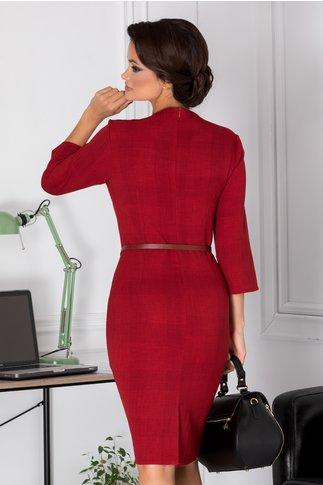 Rochie Myre marsala conica office