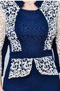 Rochie Namid bleumarin de ocazie cu dantela alba