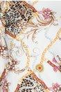 Rochie Nellie alba cu imprimeu chains