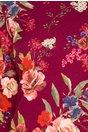 Rochie Nellie mov cu trandafiri maxi multicolori