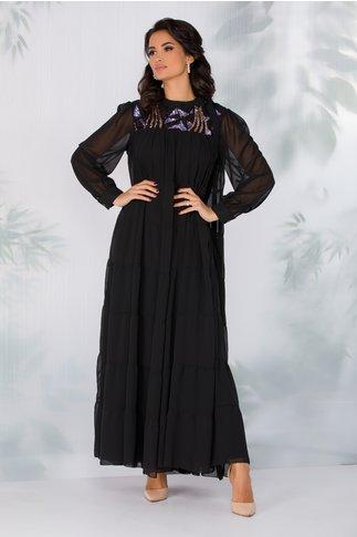Rochie Olympia neagra cu paiete