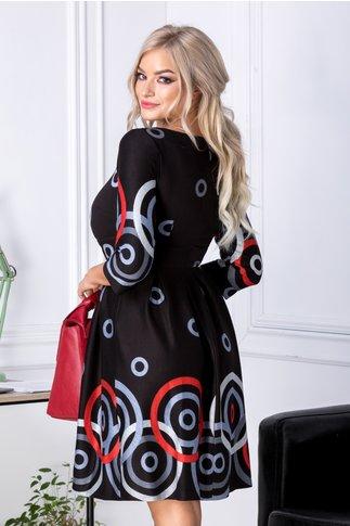 Rochie Oneful neagra cu cercuri gri
