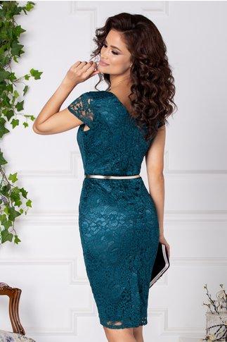 Rochie Ottis verde din dantela eleganta