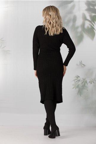 Rochie Paula neagra lunga din tricot
