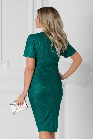 Rochie Petronela verde din dantela