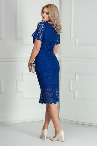 Rochie Prestige albastra din dantela eleganta