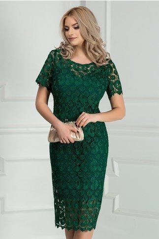 Rochie Prestige verde din dantela eleganta
