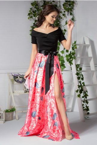 Rochie Raya lunga de seara cu trandafiri