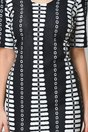 Rochie Rena negru cu alb office