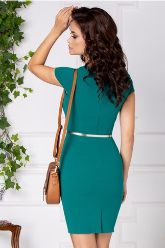 Rochie Rhona verde conica eleganta
