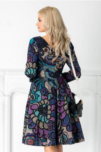 Rochie Ridley cu imprimeuri multicolore
