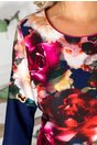 Rochie Ronna bleumarin cu imprimeu floral
