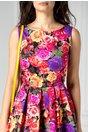 Rochie Roses cu trandafiri colorati clos de zi
