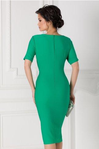 Rochie Sany verde cu aspect petrecut
