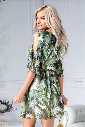 Rochie Ladonna Savanna vaporoasa cu imprimeu tropical