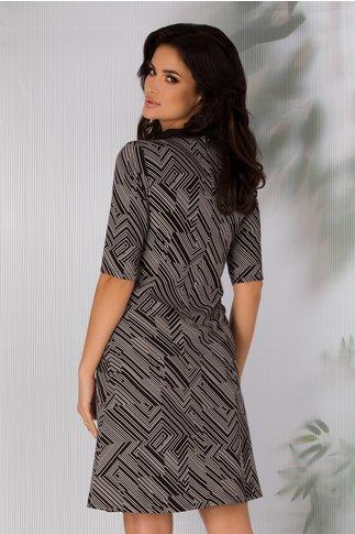 Rochie Selena cu imprimeu geometric