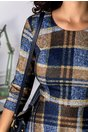 Rochie Sienna cu carouri mari bleumarin