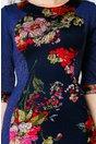 Rochie Siluette cu imprimeu floral kaki