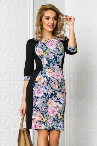 Rochie Siluette cu imprimeuri florale pastelate