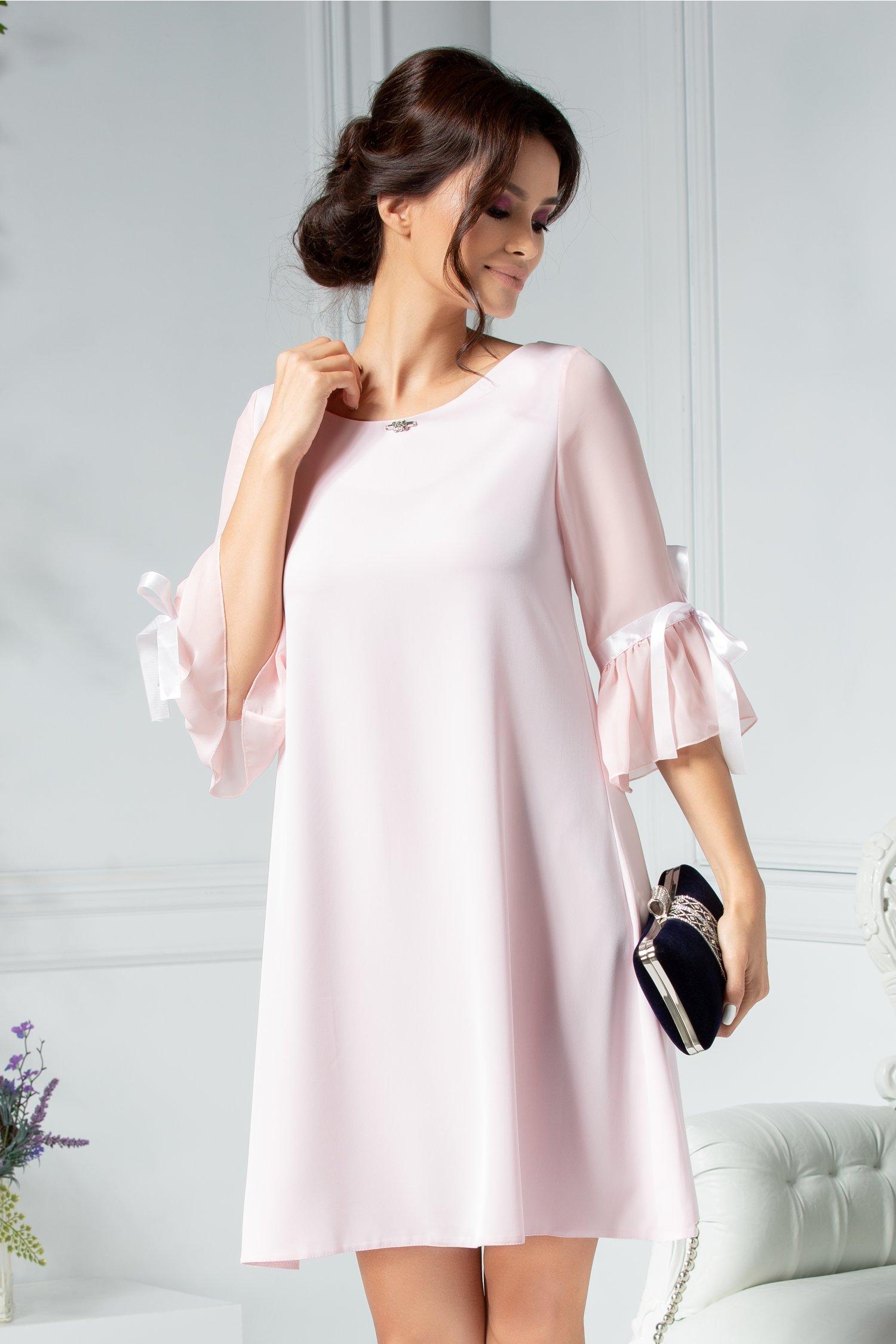 Rochie Silva roz eleganta croi larg