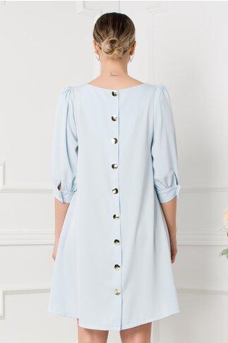 Rochie Sole bleu lejera cu nasturi pe spate