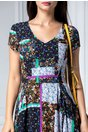 Rochie Sonia cu imprimeu floral colorat
