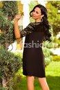Rochie Sonia Neagra c u Insertii Aurii