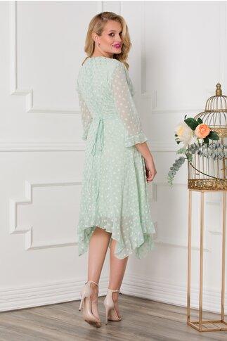 Rochie Sore verde mint cu buline