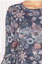 Rochie Stefania bleumarin cu imprimeu floral