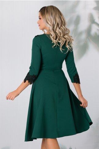 Rochie Stefy verde cu dantela eleganta