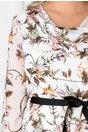 Rochie Stella alba cu imprimeu floral