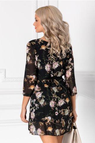 Rochie Stella neagra cu imprimeu floral