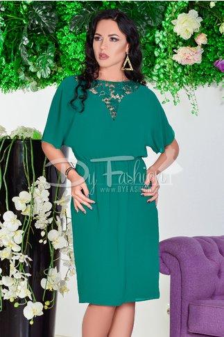 Rochie Story Verde De Seara Din Voal