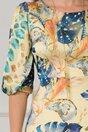 Rochie Sunny galbena cu imprimeu colorat
