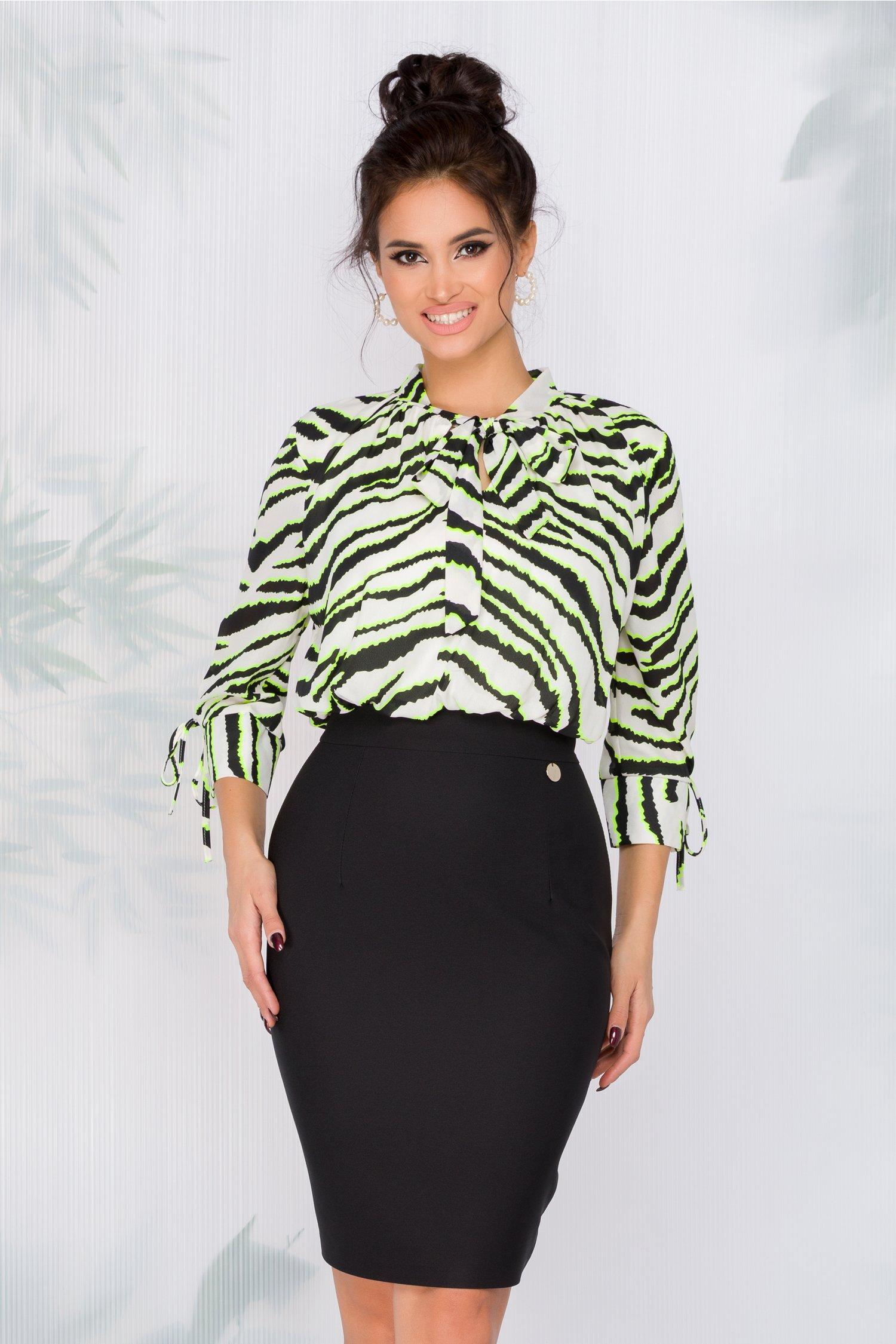 Rochie Tabi cu imprimeu zebra la bust