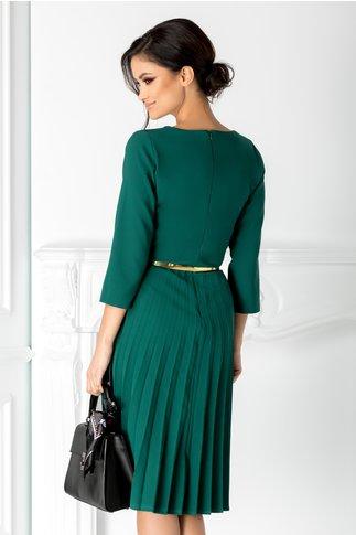 Rochie Taby verde clos plisata