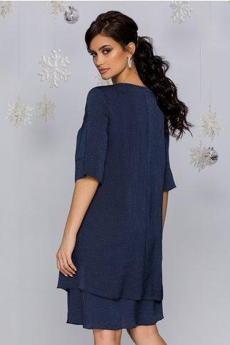Rochie Tamara bleumarin cu buline minimaliste
