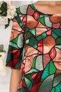 Rochie Tamara cu imprimeu mozaic