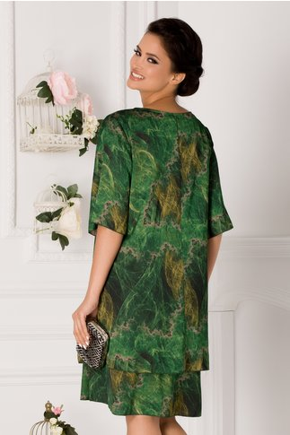 Rochie Tamara cu imprimeu verde