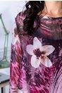 Rochie Tania roz vaporoasa cu imprimeu