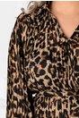 Rochie Teresa vaporoasa cu animal print